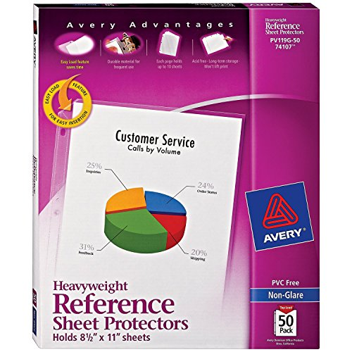 Avery Heavyweight Non-Glare Sheet Protectors, 8.5