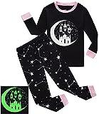 #6: Dolphin&Fish Girls Halloween Pajamas Kids Pjs Glow-in-The-Dark Toddler Halloween Clothes