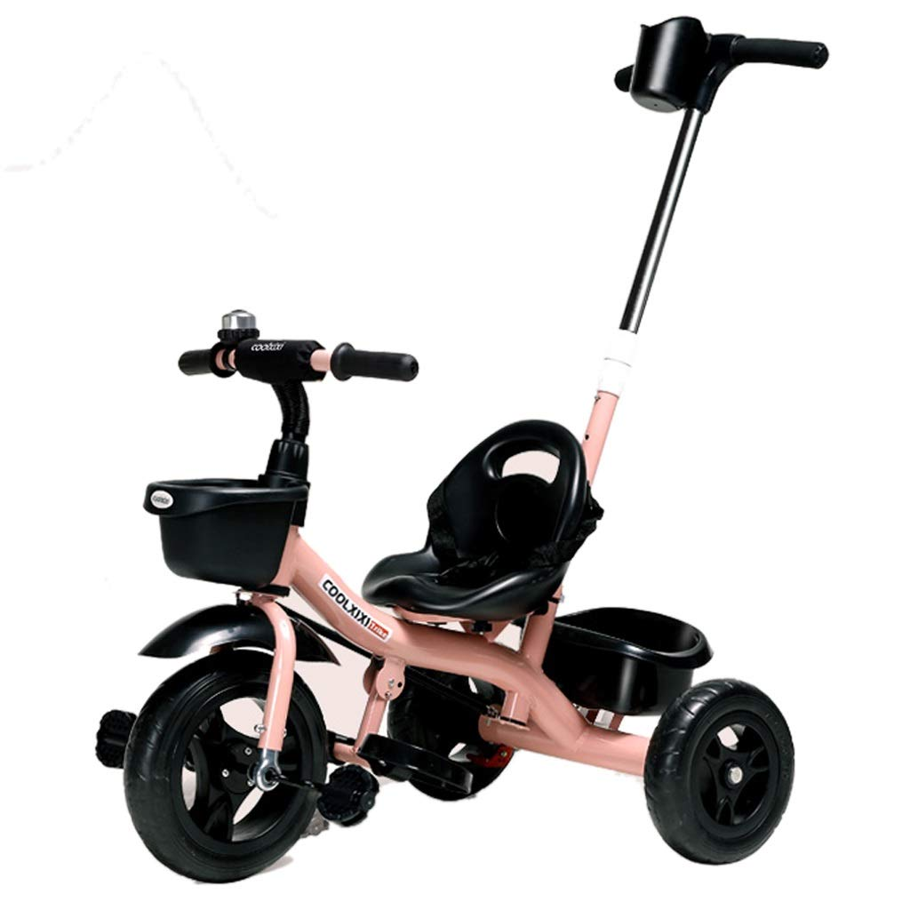 Kinder Dreirad Outdoor Kinder Dreirad 1-3 Jahre Alte Jungen Und Mädchen Kinder Trolley Mode Kinder Outdoor Spielzeugauto Kinder Pedal Fahrrad Rosa