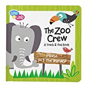 C.R. Gibson Gibby and Libby Textured Touch and Feel Board Book, The Zoo Crew