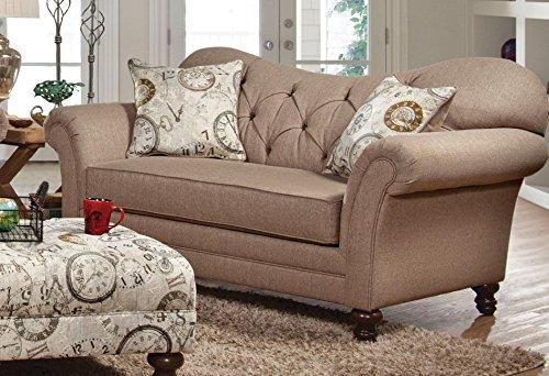 Cheap Serta Upholstery 8750LS 8750LS02 Restoration Style Loveseat in Abington, Safari