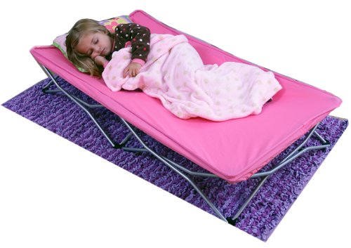 Portable Toddler Bed Cot Pink