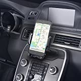 Mpow CD Slot Car Phone Holder, Universal Smartphone Car Phone Mount, 360° Rotating Cradle Phone Holder with One-Click Release Button for iPhone, Galaxy S5/S6/S7/S8, Google Nexus, LG, Huawei and More