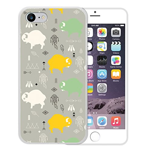 iPhone 8 Hülle, WoowCase Handyhülle Silikon für [ iPhone 8 ] Babybüffel Handytasche Handy Cover Case Schutzhülle Flexible TPU - Transparent