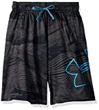 Under Armour Renegade 2.0 Jacquard Shorts, Black//Heather Blue, Youth Small