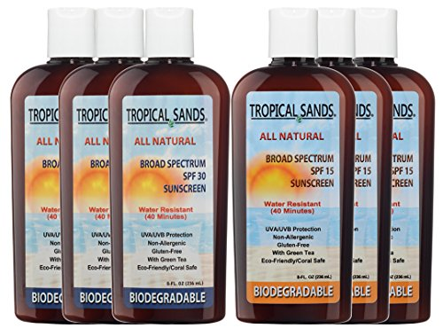 Tropical-Sands-Unscented-Sunscreen-Family-Pack-3-Bottles-SPF-30-3-Bottles-SPF-15