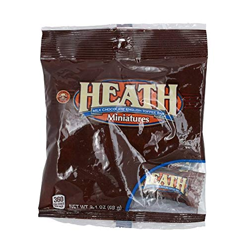 Hershey (1) Bag Heath Miniatures Candy Bars - Milk Chocolate English Toffee Candy Bars - Individually Wrapped - Net Wt. 2.4 oz