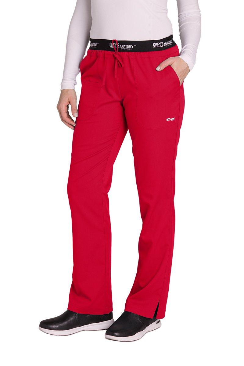 Grey's Anatomy Active 4275 Drawstring Scrub Pant Scarlet Red M