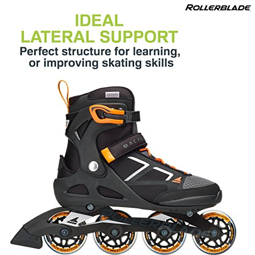 Rollerblade Macroblade 80 Women's Adult Fitness Inline Skate, Black and Pink, Performance Inline Skates by Rollerblade (Image #2)