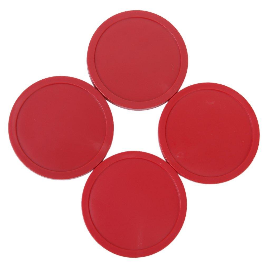 XZANTE R 4 Pieces Air Table Hockey Puck Air Arcade Jeu Pucks 82mm Rouge