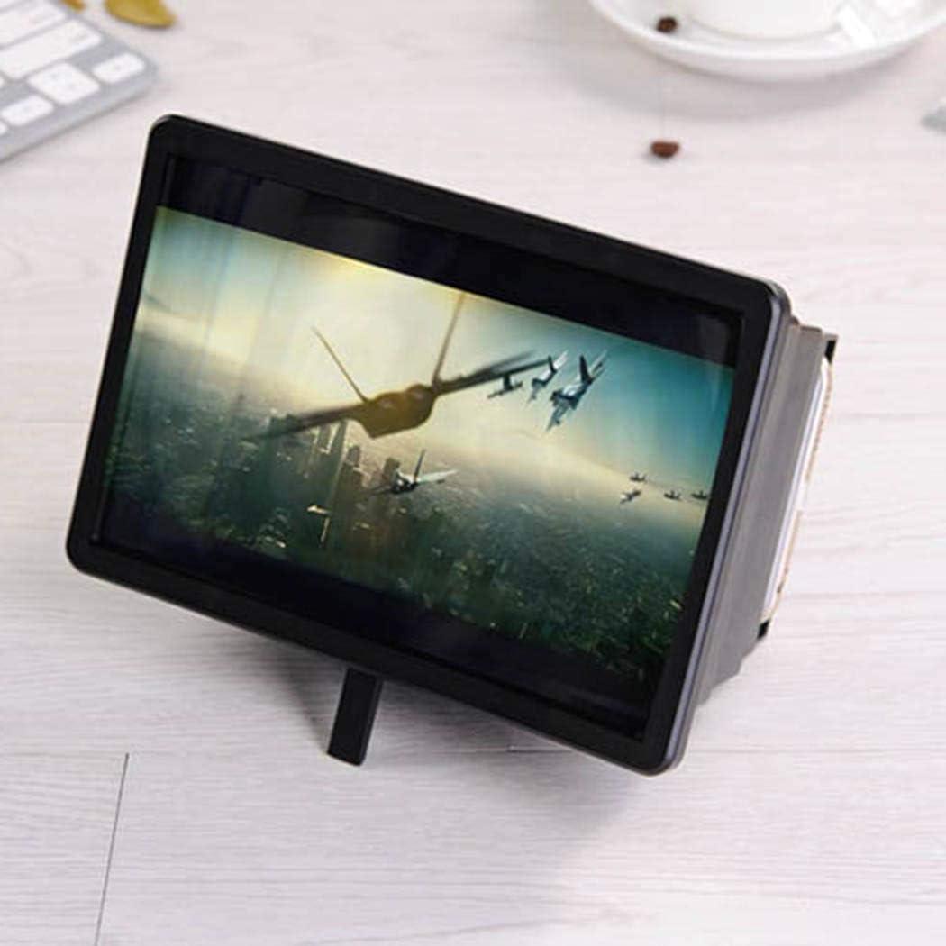 ROCONAT Amplificateur de loupe vid/éo 3D avec Protection des Yeux et loupe pour t/él/éphone Portable Supports