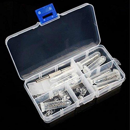 Box Eyeglass Sunglasses Screw Nut Nose Pad Optical Repair Tool Assorted Kit - Rimless Repair Parts Glasses