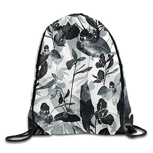 Yishuo Imprints Meadow Flowers And Herbs Hand Painted Seamless Pattern Digital Drawing And Watercolor Drawstring Pack Beam Mouth Gym Sack Shoulder Bags For Men & Women
