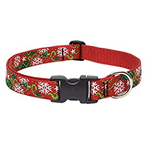 "LupinePet Originals 1"" Christmas Cheer 12-20"" Adjustable Collar for Medium and Larger Dogs"