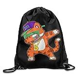 Dabbing Cat Funny Dab Hip Hop Dabbing Kitten Men & Women Drawstring Backpack Travel Bag