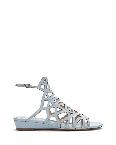 f7a132888 Vince Camuto Illana Womens Chambray Leather Caged Slingback Sandals Size 5