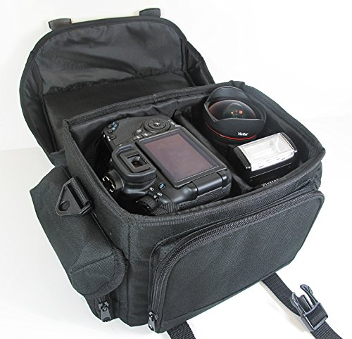 Deluxe Rugged Camcorder Bag / Case For JVC GS-TD1, GZ-HD520, GZ-HM30, GZ-HM440, GZ-HM450, GZ-HM50, GZ-HM650, GZ-HM670, GZ-HM690, GZ-HM860, GZ-HM960 HD Everio Camcorder + LCD Screen Protectors + MicroFiber Cleaning Cloth
