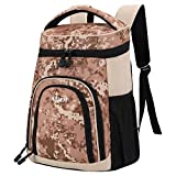MIER Insulated Leakproof Cooler Backpack Bag Large Capacity Stylish Picnic Lunch Cooler Men, Women, 20Can