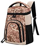 MIER Insulated Cooler Backpack Leakproof Soft Cooler for Lunch, Picnic, Hiking, Beach, Park