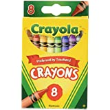 Crayola Crayons,8 Count (52-3008) (3 Pack), Pack of 3, 3 Piece