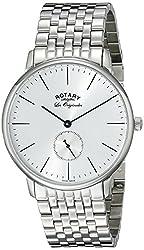 Rotary Men's gb90050/06 Analog Display Swiss Quartz Silver Watch