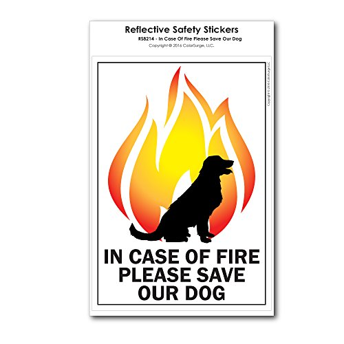 (CoolHubcaps in Case of Fire Please Save Our Dog Reflective)