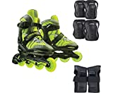 DBX Boys' Equinox Adjustable Inline Skate Package, Green (MEDIUM)