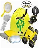 Toys : Adventure Kids - Educational Outdoor Children's Toys - Binoculars, Flashlight, Compass, Magnifying Glass, Butterfly Net & Backpack. Explorer Kit Great Kidz Gift Set For Birthday, Camping & Hiking