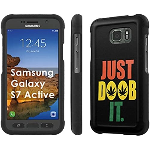 AT&T [Galaxy S7 Active][5.2 Screen] Phone Case [SlickCandy] [Black] Hard Protector Snap Designer Shell Case - [Just Doob it] for Samsung Galaxy [S7 Active] Sales
