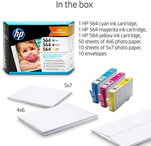 CB320WN Cyan 3 Ink Cartridges Yellow CB319WN HP 564 CB318WN ...