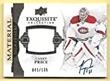 15/16 Exquisite Collection #CP Carey Price Jersey On Card Autograph #045/135