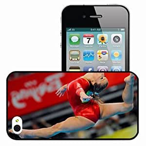 Personalized iPhone 4 4S Cell phone Case/Cover Skin Alicia Sacramone 425 Sports Black