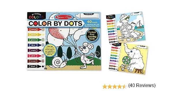 Amazon.com: Melissa & Doug Color by Dots - 40 Pages, Includes ...