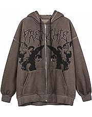 Hoodie Angel Fairy Grunge Dark Print Jas Jas Vrouwen Hiphop Streetwear Harajuku Anime Hoodies Jas Rits Y2K Punk