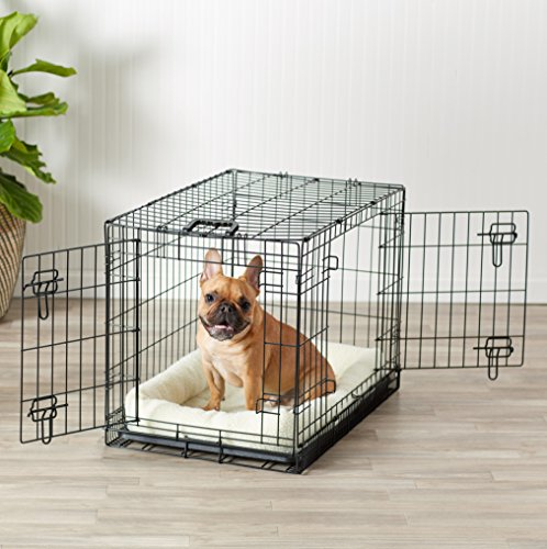AmazonBasics Double-Door Folding Metal Dog Crate - 30 Inches