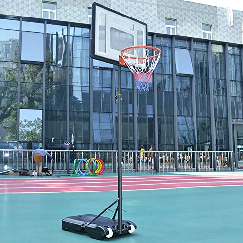 Basketball Stand Height Adjustable w/Wheels 165-210cm (65'' to 83'') | Outdoor Basketball Hoop Stand Toy Set for Kids Toddler by Basketball Stand (Image #2)