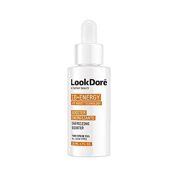 Lookdore - IB+ Energy Booster - Sérum Facial Vitamina C - Reafirmante y Revitalizante para la Fatiga - Anti Ojeras y Bolsas