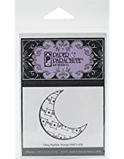 """Paper Parachute UMCS026 Shadow Moon Cling Rubber Stamps, 2"""" by 2"""", Red"""