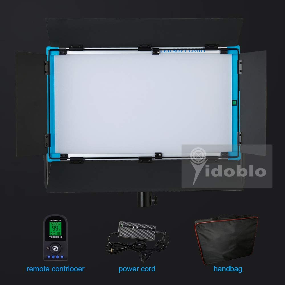 Yidoblo A-2200 LED Video Lighting Panel Ultra Bright Daylight100W, 3200K-5600K High CRI/TLCI 97+ Professional Studio Photography Lighting with Remote Control (A-2200 Daylight with Bag)