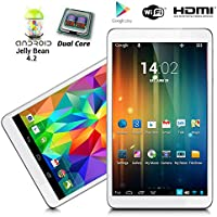 Indigi 7.0in Android 4.2 Tablet PC Luxury Feel Gold Leather Back HDMI WiFi Google Play