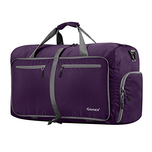 Gonex 60L Foldable Travel Duffel Bag Water & Tear Resistant, (Folding Travel Bag)