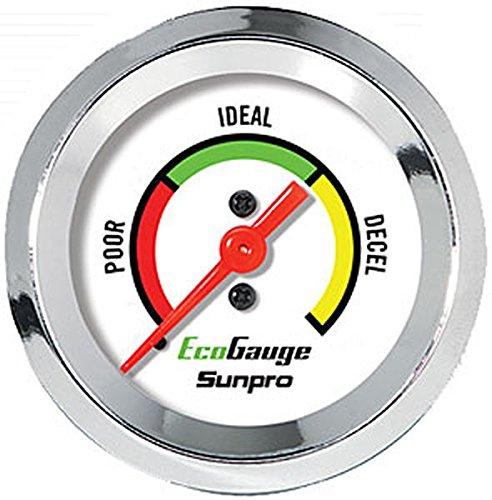 - Fuel Economy Gauge Sunpro CP8221, Chrome Bezel, 2
