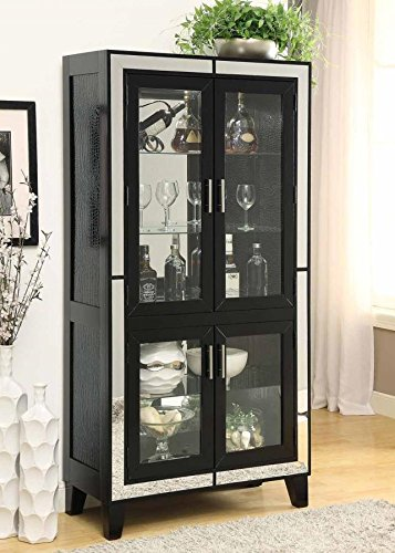 Coaster Home Furnishings 950554 Curio Cabinet, Cappuccino