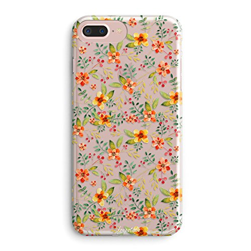 iPhone 6 Case,iPhone 6s Case Colorful Tropical Floral Summer Flowers Camellia Cute Beach Hawaii Love Vintage Orange Daisy Roses Spanish Girl Clear Rubber Case Cover for iPhone 6 (4.7