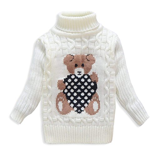 0a67a620d VIFUUR Kids Bear Turtleneck Sweater Boys Girls Knit Sweater Christmas - Buy  Online in Oman.   Apparel Products in Oman - See Prices, Reviews and Free  ...