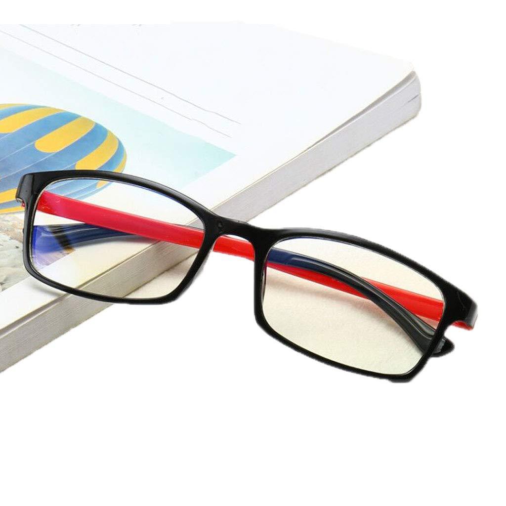 Gläser Rote Beinstrahlungsgläser Retro Anti-Blau kein Grad-Flachspiegel-Computerauge MUMUJIN