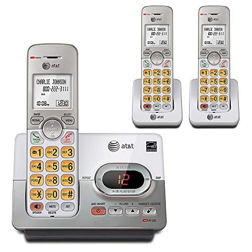 AT&T DECT 6.0 Digital 3 Handset Cordless Phone w/ Digital Answering System & Caller ID (Renewed) from VTech