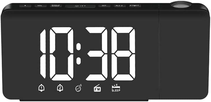 SM SunniMix Reloj Despertador Hora Proyector Radio FM ...