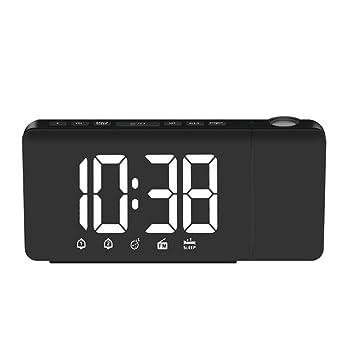 SM SunniMix Reloj Despertador Hora Proyector Radio FM Proyección ...