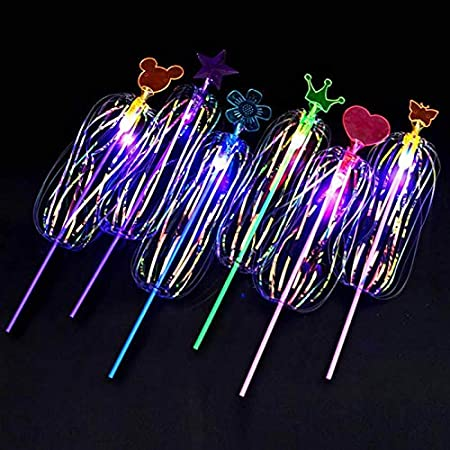 1 pcs Alextry Variety Magic Flashing Twisted Zauberstab Light-up Spin Rainbow Bubble Ball Juguetes para ni/ños